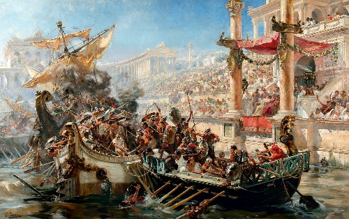 Why Ancient Rome Staged Epic, Violent Sea Battles