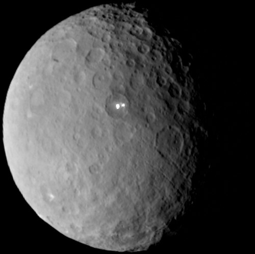 Mysterious Bright Spots on Dwarf Planet Ceres May Be Water Ice