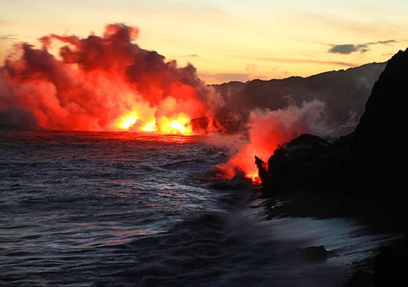 Night Hiking to Watch Kilauea's Lava Meet the Sea