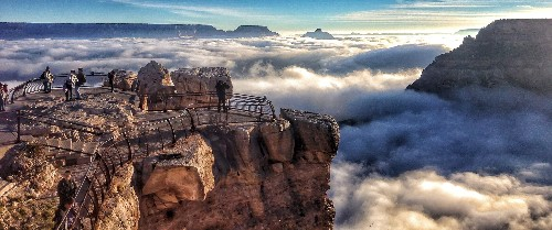 What Created the Rare, Breathtaking Fog Over the Grand Canyon?