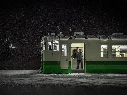 Train in Snow Image, Fukushima, Japan - National Geographic Photo of the Day