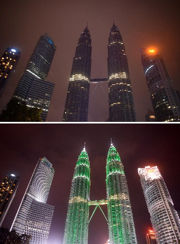 Pictures: World's Iconic Buildings Go Dark for Earth Hour