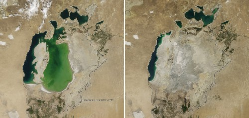 Aral Sea's Eastern Basin Is Dry for First Time in 600 Years