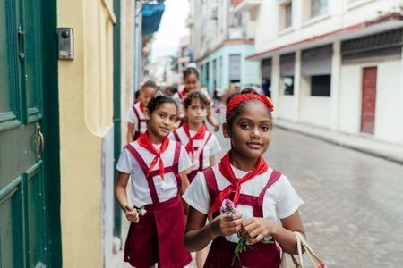 schoolgirls in havana Photo by Annemarie Hamant — National Geographic Your Shot