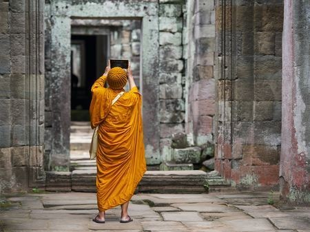 Modern Monk Photo by Alessandro Uttaro — National Geographic Your Shot