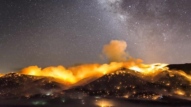Stunning Time-lapse Shows Beauty and Danger of Wildfires