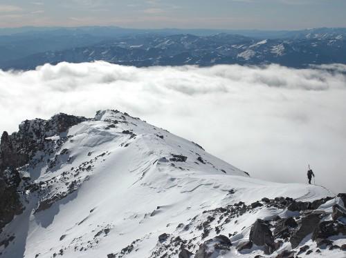 Ski Mountaineer Mount Shasta, California