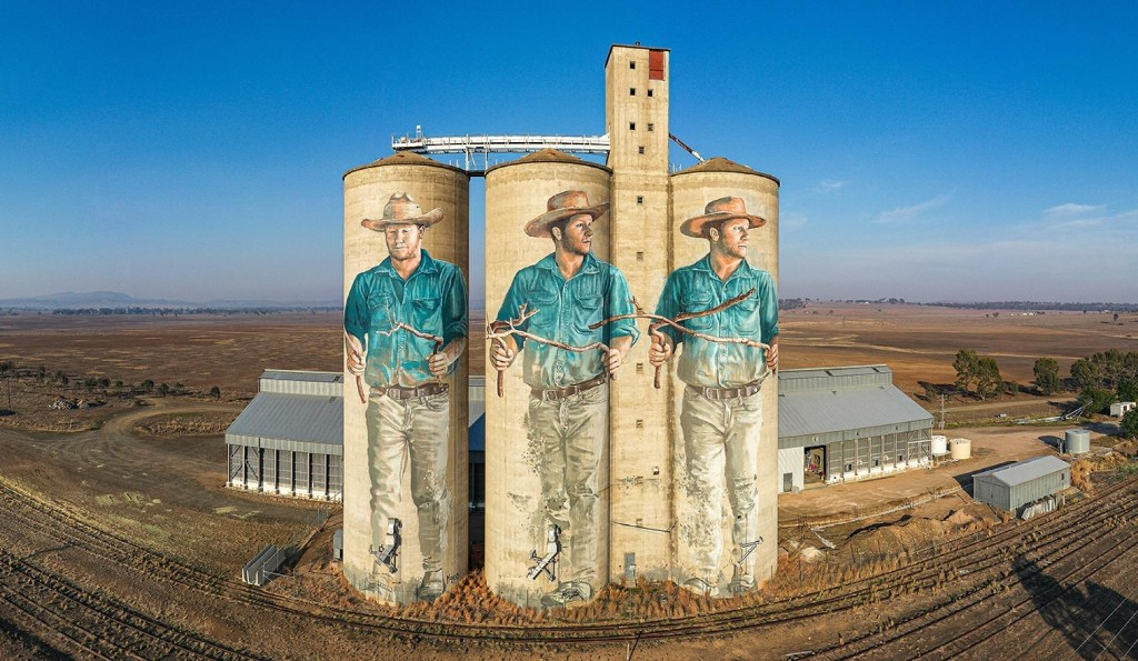 Wallabies. Cowboys. Street artists land in Australia's outback.