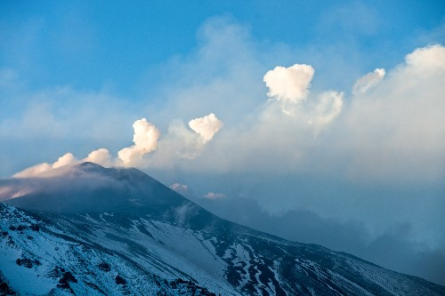 Italy's Mount Etna Volcano Blows Smoke Rings