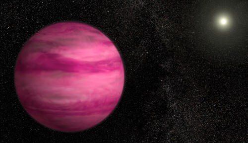 Newly Discovered Pink Exoplanet on the Lighter Side