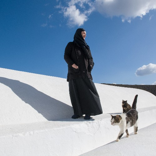 She arrived a tourist. The island's beauty inspired her to become its sole nun.