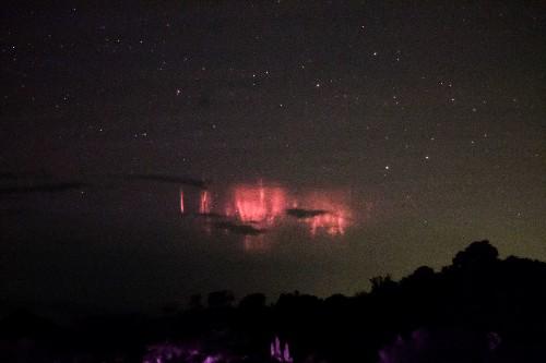 Rare, Colorful Lightning Sprites Dance Over Hurricane