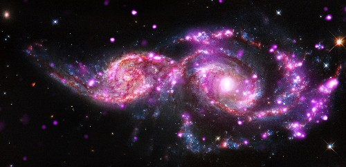 Week's Best Space Pictures: Galaxies Collide, Gullies Get Frosted, and Cities Light Up