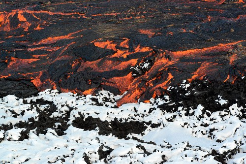 Pictures: When Snow and Ice Meet Lava