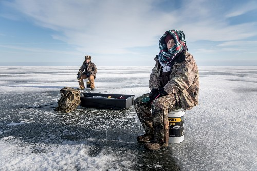 See the vibrant ice fishing culture under threat in the Great Lakes