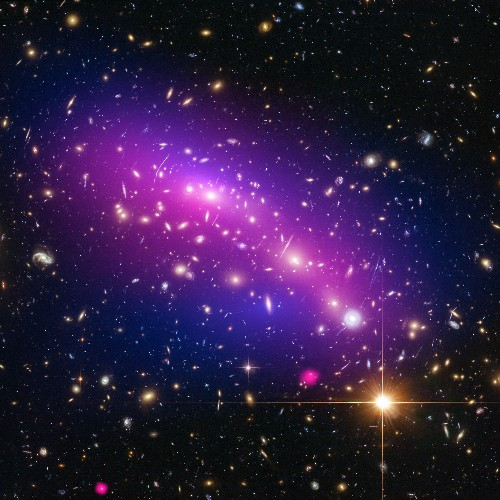 Week's Best Space Pictures: A Storm Swirls and Dark Matter Collides