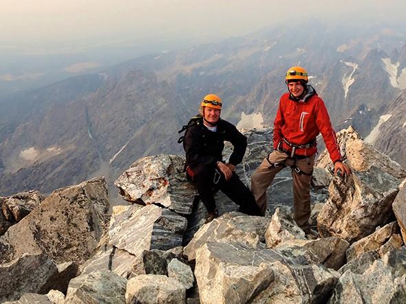 Father-Son Bonding on Grand Teton