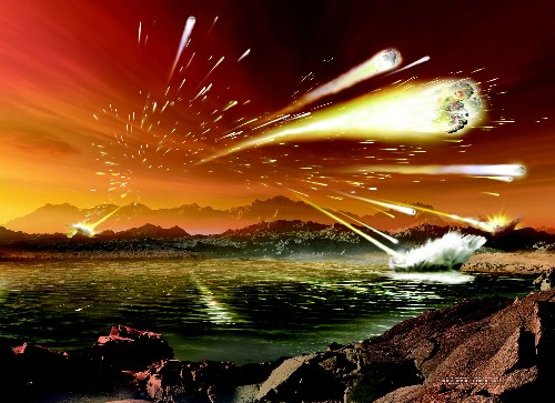 Ancient Earth saw a huge spike in meteor impacts. It may be ongoing.