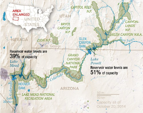 Record Drought Reveals Stunning Changes Along Colorado River