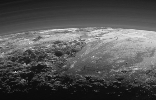 Pluto at Dusk: Spectacular, and Spookily Earthlike