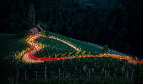 heart shaped road Photo by A. Kadar — National Geographic Your Shot