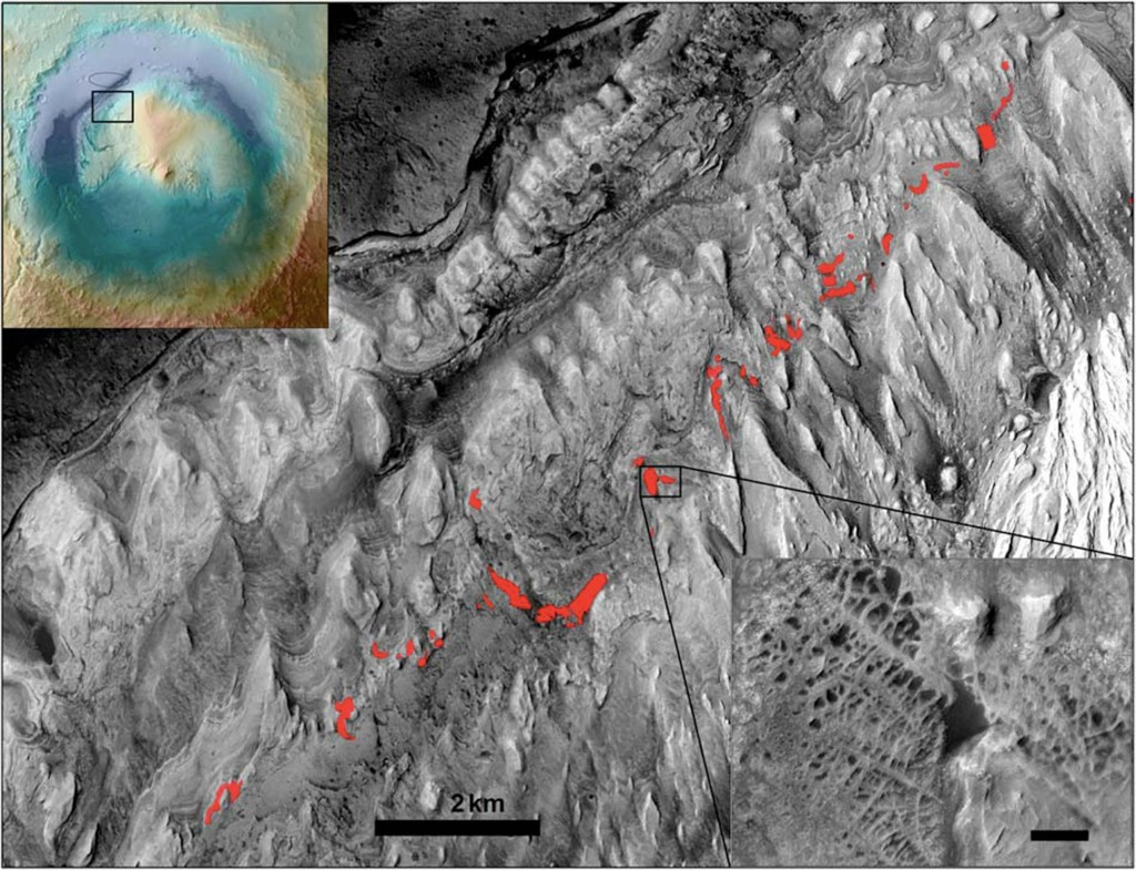 Deep Water May Have Surrounded Ancient Mars Mountain