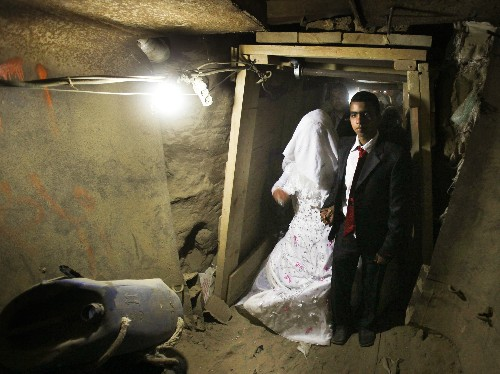Pictures: Bride Smuggled Through Gaza Tunnels