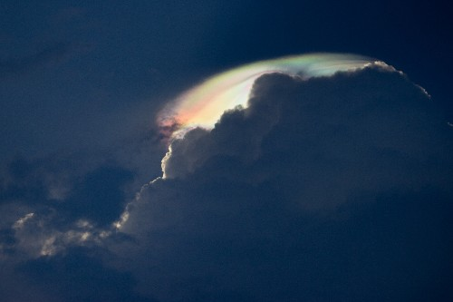 A Rare Look at an Iridescent Cloud