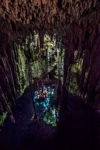 """Haunted"" Maya Underwater Cave Holds Human Bones"