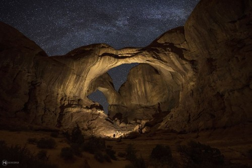 Double Arch Milkyway Photo by Matthew Breiter — National Geographic Your Shot
