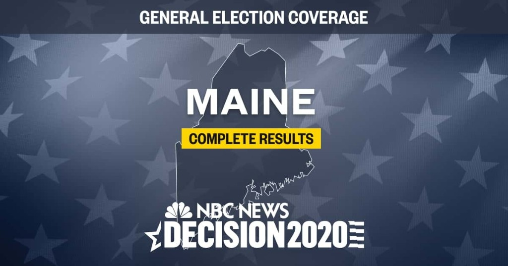 Maine election results 2020: Live results by county