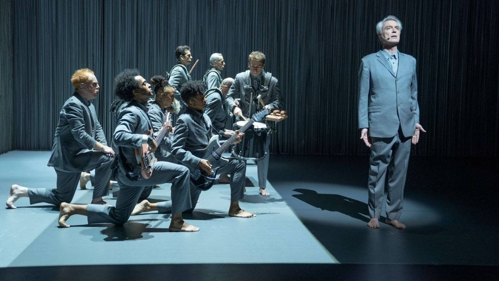 "David Byrne's Gray Suits, from ""Stop Making Sense"" to ""American Utopia"""