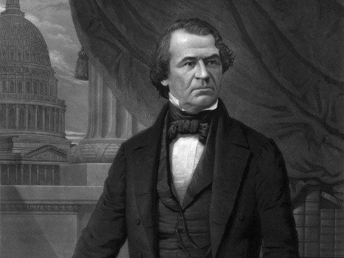 Andrew Johnson Horrified That History Books Will Mention Him in Same Sentence as Trump