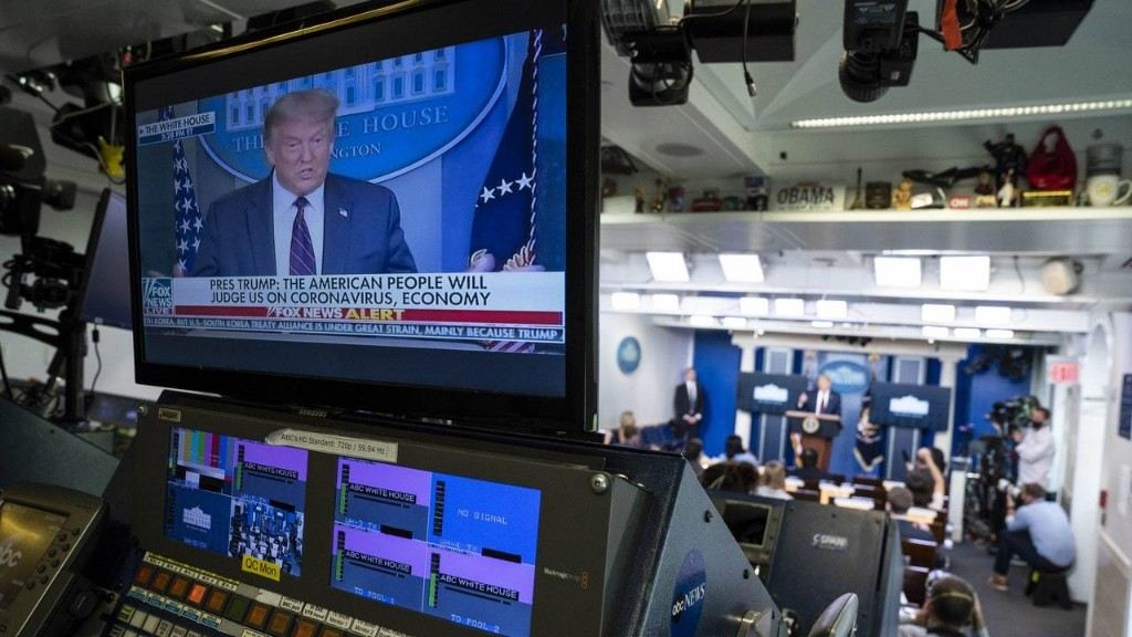 Trump Returns to the Coronavirus Daily Briefing and Still Refuses to Face Reality