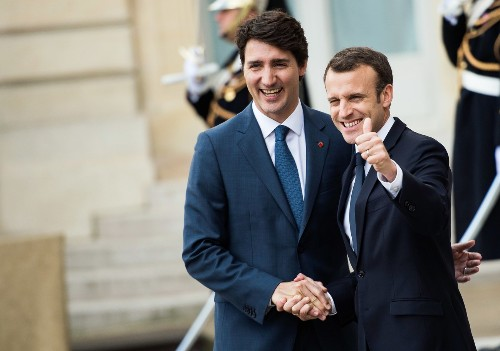 Macron, Trudeau Say They Weren't Going to Tell Trump Where G-7 After Party Was