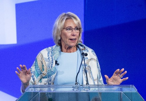 Betsy DeVos Says She Did Math on Trump's Tax Plan and It Will Save Nation Eleventy Krillion