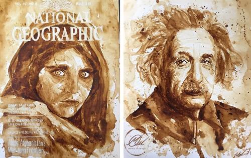 Artists Transform Coffee Spills Into Masterpieces