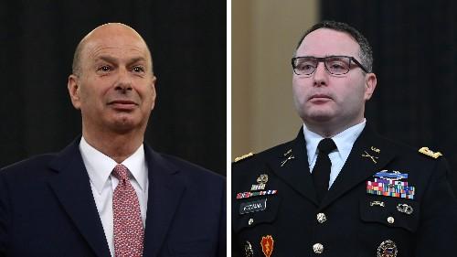 Vindman, Sondland Removed As Trump Purges Impeachment Witnesses
