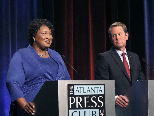 Georgia's Kemp Accuses Democrats Of Hacking; Opponent Abrams Labels It A Stunt