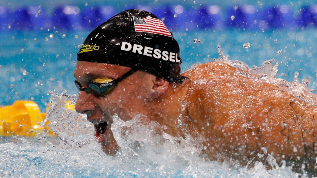 With 7 Golds, Caeleb Dressel Ties Phelps' Record At Swimming Worlds