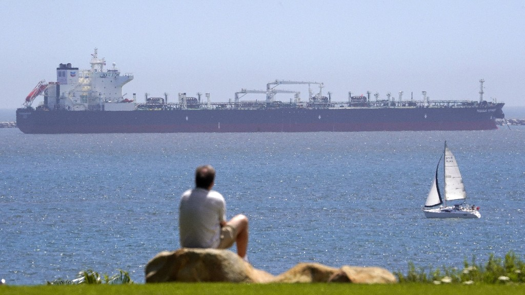 Dozens Of Oil Tankers Wait Off California's Coast As The Pandemic Dents Demand