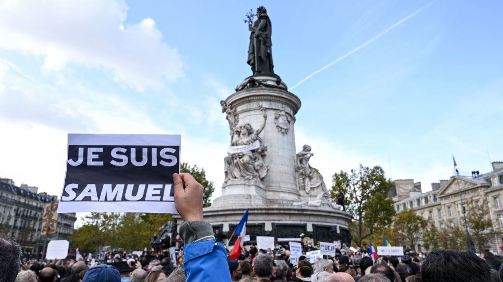 After Brutal Beheading, Rallies Erupt Across France To Honor Slain Teacher
