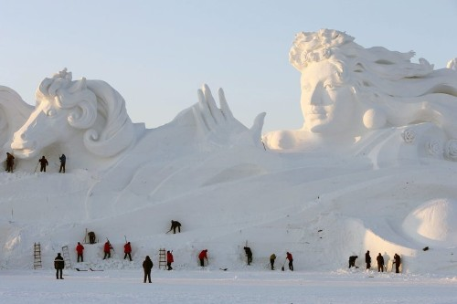 Something Cool: Photos Of Huge Snow Sculptures In China