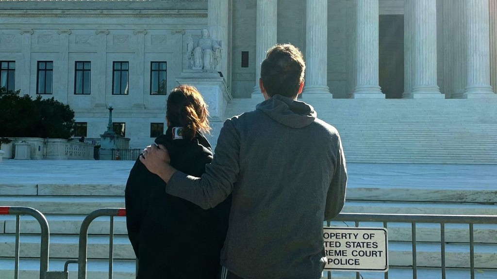 Kamala Harris And Her Husband Make Stop Outside The Supreme Court