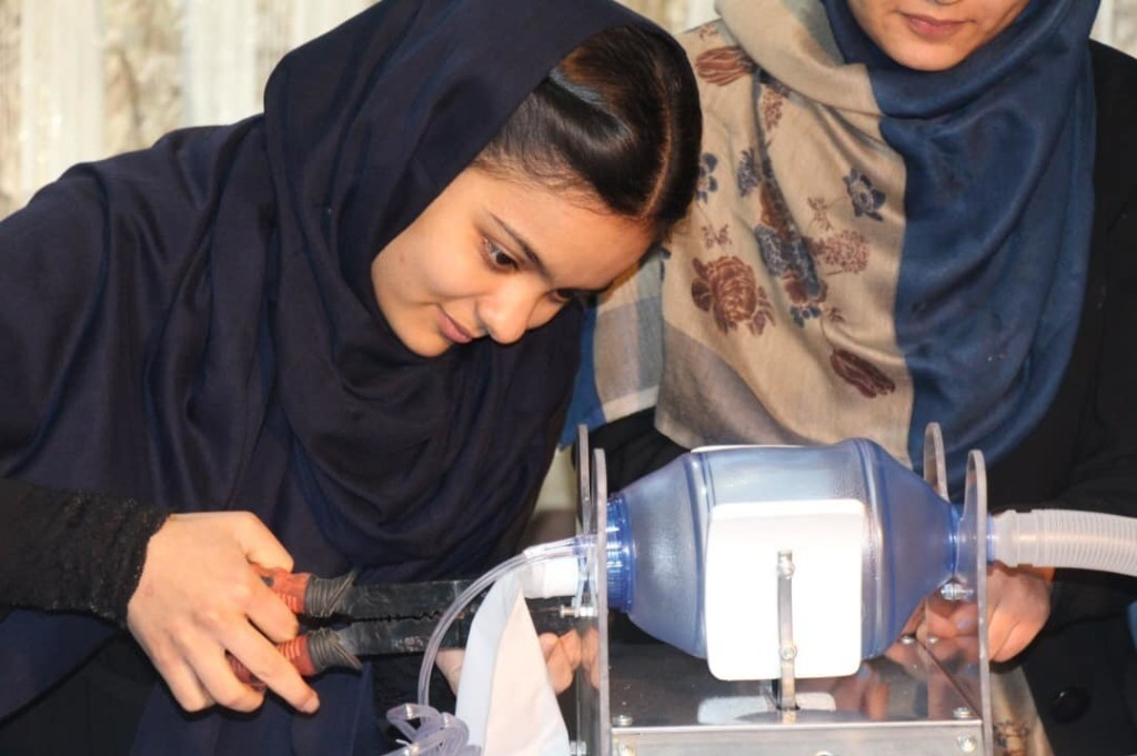 All-Girl Robotics Team In Afghanistan Works On Low-Cost Ventilator ... With Car Parts