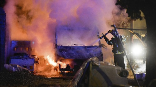 Nights Of Unrest, Torched Cars, After Fatal Shooting By Police In Nantes, France