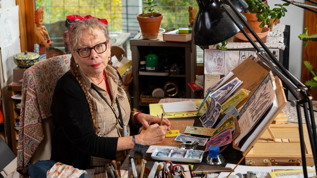 Cartoonist Lynda Barry, MacArthur 'Genius' Fellow