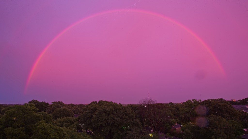 Photos: After A Storm, A Red Sky, Double Rainbow Over Atlanta