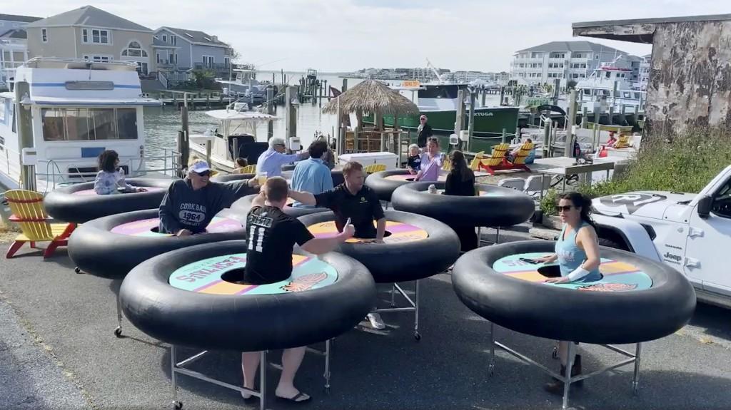 Maryland Restaurant Floats Social Distancing Dining Plan: Inner Tube Tables