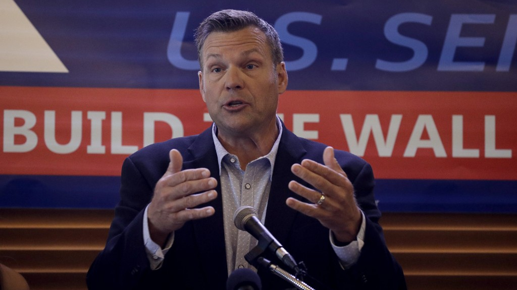 Conservative Kris Kobach Projected To Lose Kansas GOP Senate Primary